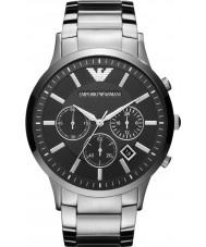 Emporio Armani AR2460 Klasyczne męskie chronograf czarny srebrny zegarek