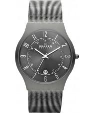 Skagen 233XLTTM Mężczyźni Klassik szarego tytanu zegarek siatkową
