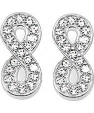 Thomas Sabo H1877-051-14 Panie cyrkonu Pave nieskończoności srebrne kolczyki