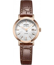 Rotary LS90157-02 Panie les originales Windsor wzrosła pozłacane brązowy skórzany pasek zegarka