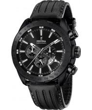 Festina F16902-1 Mężczyźni Prestige czarny skórzany zegarek chronograf