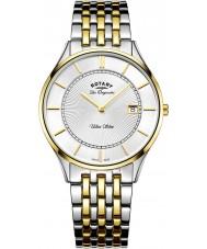 Rotary GB90801-02 Męskie Ultra Slim two tone stalowa bransoleta zegarka