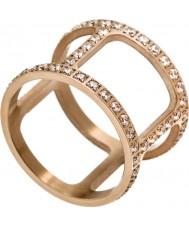 Edblad 3153441915-XS Women Helena cz wzrosła pozłacany pierścień - rozmiar L (XS)