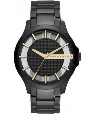 Armani Exchange AX2192 Mens Sukienka czarna stalowa bracet zegarek