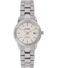 Rotary LB02735-06 zegarki damskie mścicielem srebro stal zegarek