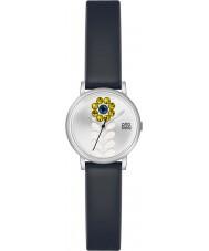 Orla Kiely OK2047 Valentina damskie czarny skórzany pasek do zegarka