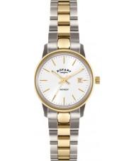 Rotary LB02736-02 zegarki damskie mścicielem two tone złocistego zegarka
