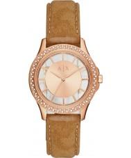Armani Exchange AX5254 Panie ubierają jasnobrązowy nabuck pasek zegarka