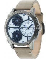 Police 14699JSU-07 Mężczyźni grzechotnika beżowy zegarek skórzany pasek