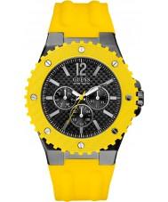 Guess W11619G5 Mens overdrive żółty zegarek