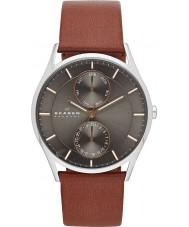 Skagen SKW6086 Mens Holst brązowy skórzany pasek zegarka