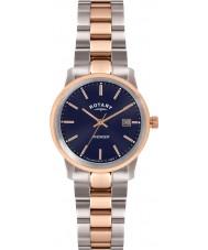 Rotary LB02737-05 zegarki damskie mścicielem dwóch odcieniach róży zegarek