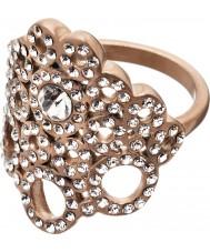 Edblad 82886 Panie liz matowy wzrosła złoty pierścionek - Rozmiar q (l)