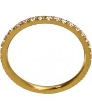 Edblad 216130153-M Ladies świecić mikro matowy złoty pierścionek - Rozmiar p (m)