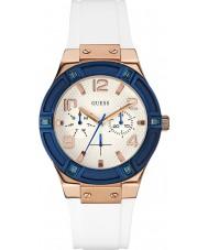 Guess W0564L1 Panie jet seter biały silikonowy pasek zegarka