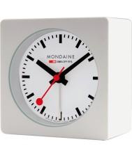 Mondaine A996-ALIG-10SBB Biały sześcian Alarm Clock