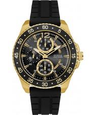 Guess W0798G3 Mężczyźni kruczoczarne silikonowy pasek zegarka