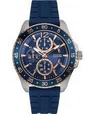 Guess W0798G2 Mężczyźni jet niebiesko silikonowy pasek zegarka