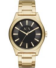 Armani Exchange AX2328 Mężczyźni nico złoty zegarek stalowy bracet
