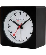 Mondaine A996-ALIG-20SBB Czarna kostka Alarm Clock