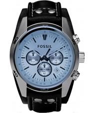Fossil CH2564 Mens woźnica czarny skórzany zegarek chronograf
