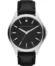 Armani Exchange AX2182 Mens Sukienka czarny skórzany pasek do zegarka