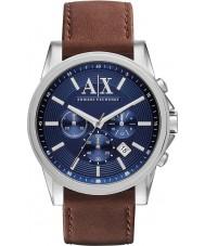 Armani Exchange AX2501 Mężczyzna niebieski brązowy strój zegarek chronograf