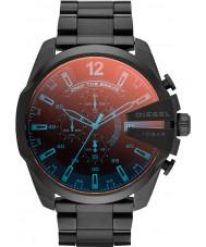 Diesel DZ4318 Mężczyźni mega główny czarny zegarek chronograf ip