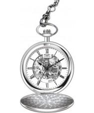 Rotary MP00726-01 Mężczyzna szkielet mechaniczny zegarek kieszonkowy ze stali