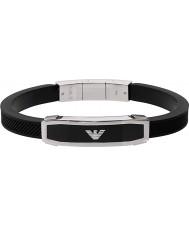 Emporio Armani EGS1543040 Mężczyźni wkładka czerni bransoletka