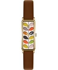 Orla Kiely OK2104 Panie macierzystych druku tan skórzany pasek zegarka