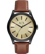 Armani Exchange AX2329 Mężczyźni nico ciemnobrązowy pasek skórzany zegarek