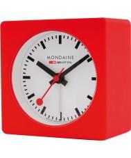 Mondaine A996-ALIG-30SBB Czerwony alarm clock kostki