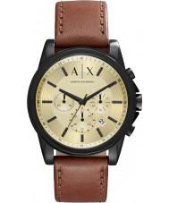 Armani Exchange AX2511 Męska Outerbanks ciemnobrązowy zegarek chronograf