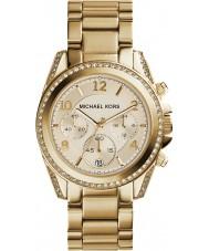 Michael Kors MK5166 złoty zegarek chronograf Ladies galwanicznie