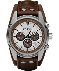 Fossil CH2565 Mens woźnica brązowy skórzany zegarek chronograf