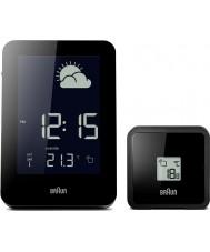 Braun BNC013BK-RC Radio sterowane zegar stacja pogody - czarna