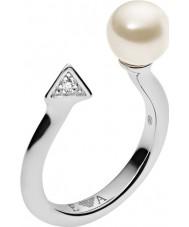 Emporio Armani EG3288040-6.5 Panie deco perły pierścionek Sterling Silver - Rozmiar m.5