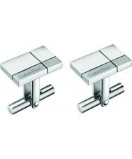 Calvin Klein KJ3PMC090100 Męskie spinki do mankietów wykonane ze stali silver tone