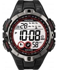 Timex T5K423 Mężczyzna czerwony czarny maraton sportowy zegarek