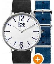 Ice-Watch CHL.B.FIN.41.N.15 Mężczyźni ice-miasto zegarek z niebieskim nylonu i czarne skórzane pasy