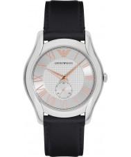 Emporio Armani AR1984 Mens classic czarny skórzany pasek zegarka