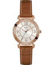 Guess W0833L1 Panie Południowej Hampton brązowy skórzany pasek do zegarka