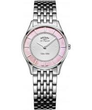 Rotary LB90800-07 Panie Ultra Slim srebro stal bransoletka zegarek