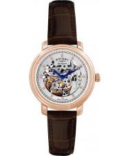 Rotary GS90505-06 Mężczyźni les originales jura automatyczne szkielet wzrosła złoty zegarek