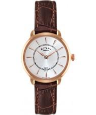 Rotary LS02919-03 zegarki damskie elise brązowy skórzany pasek zegarka