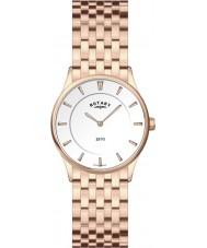 Rotary LB08204-02 Panie Ultra Slim biała róża złoty zegarek