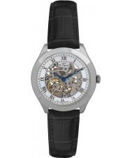 Rotary GS90508-02 Mężczyźni les originales jura automatyczne szkielet srebrny zegarek