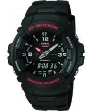 Casio G-100-1BVMUR Mężczyźni wyświetlacz kombinacja g-shock zegarek