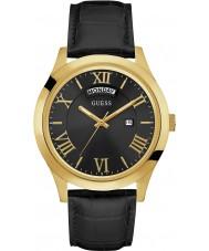 Guess W0792G4 Mężczyzna metropolita czarny skórzany pasek zegarka